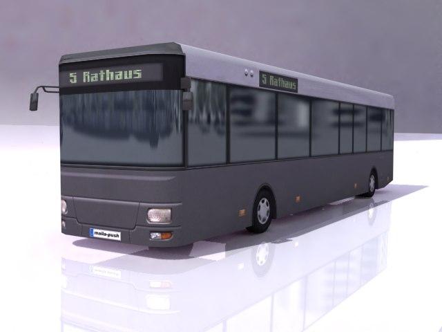 3d model games bus