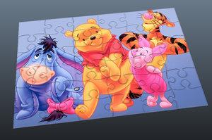 puzzle pieces 3d obj