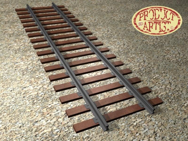 rail 3d obj
