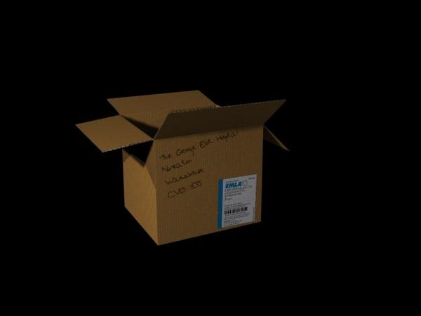 cardboard box obj