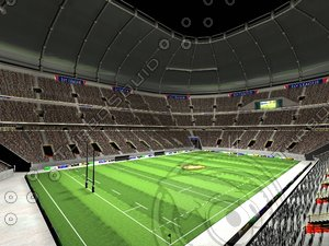 3d model huge stadium