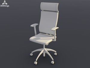 3d model conference chair open swivel