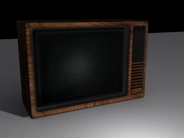 old television 3d obj