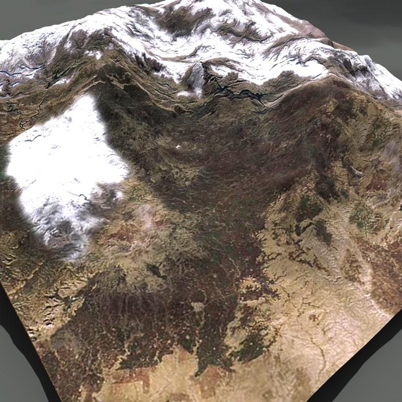 mountain terrain 3d c4d