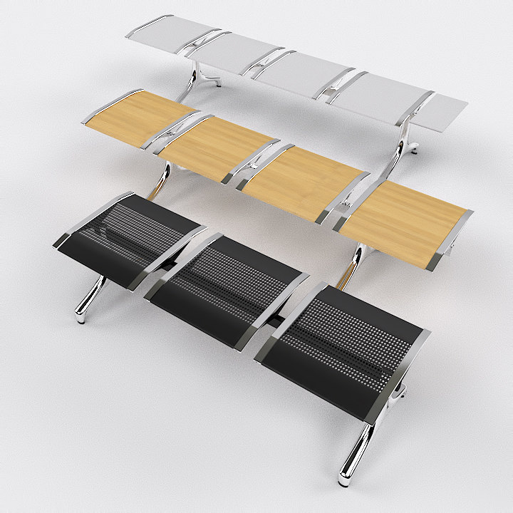 3d model waiting chairs