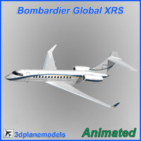 3d bombardier global 1 interior model