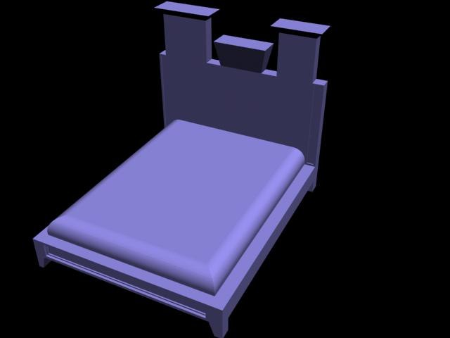 free bedroom 3d model