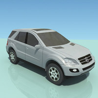 low-poly mercedes ml 3d max