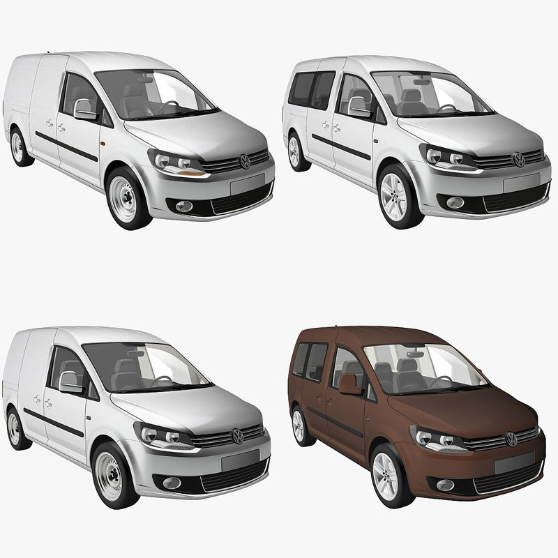 3d model vehicles caddy delivery van