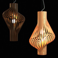 CGAxis Wooden Lampshade 06