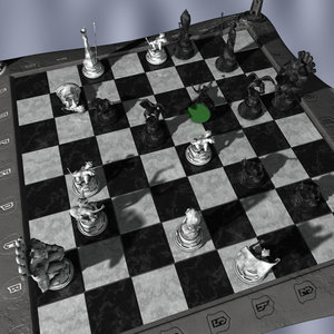 chessboard gargoyles board 3d model