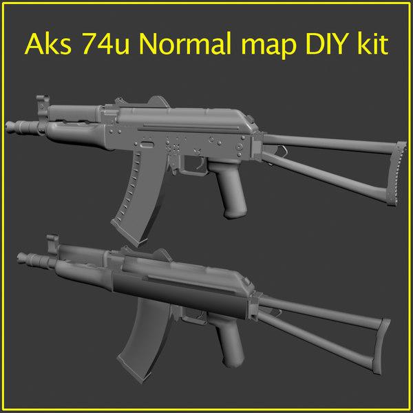 aks 74u kit diy 3d model