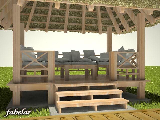 gazebo grass 3d model