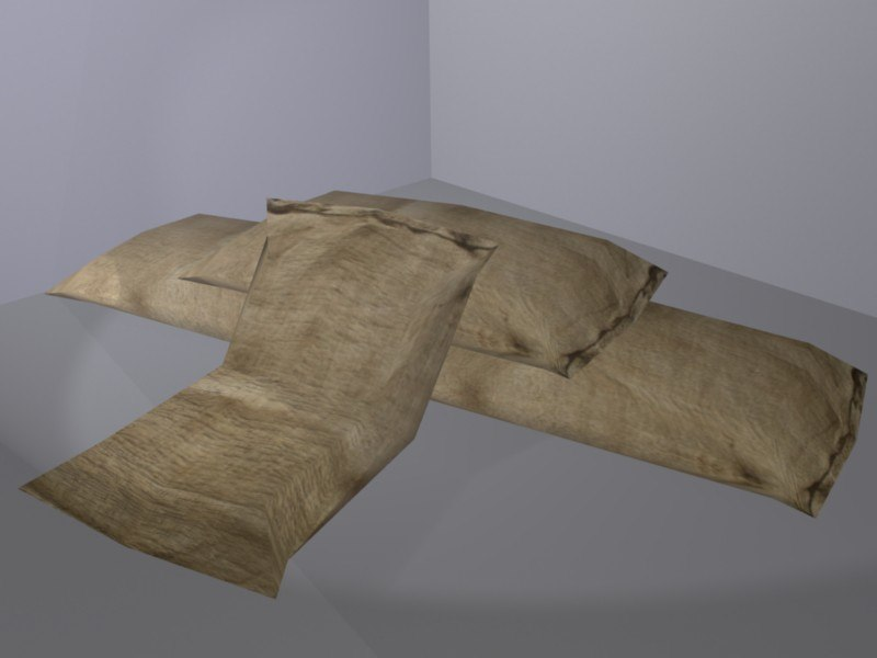 3dsmax sand bag