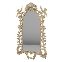 Jumbo classic wall mirror baroque wood caving carved rococo