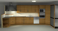 kitchen house 3d 3ds