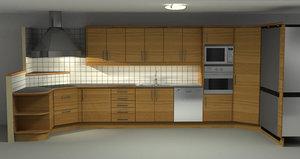 kitchen house 3d 3ds