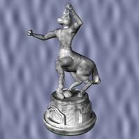 gargoyle chess knight 3d model