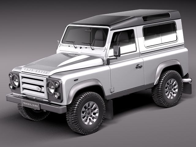 3d model landrover land rover defender
