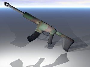 free obj mode machine gun
