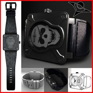 3d model bell ross watch 01-92
