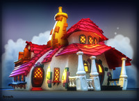 3d model toontown buildings