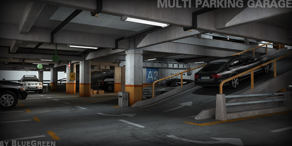3d model multi parking garage