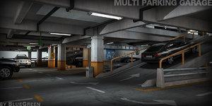 3d model multi parking garage