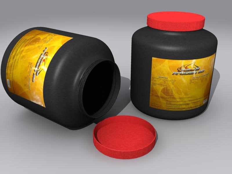 3d container protein model