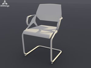 3d model of conference chair roxy armrests