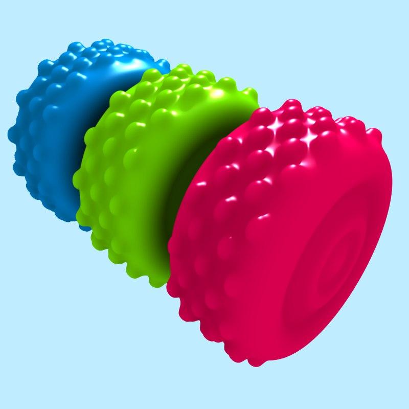 3d rubber ball model