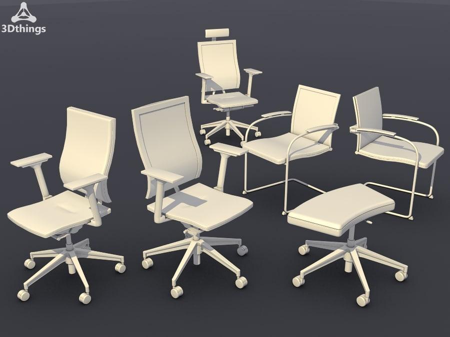 c4d conference chair set10 -