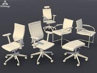 c4d conference chair set10 -