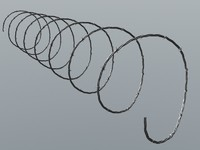 barbed wire 3d dxf