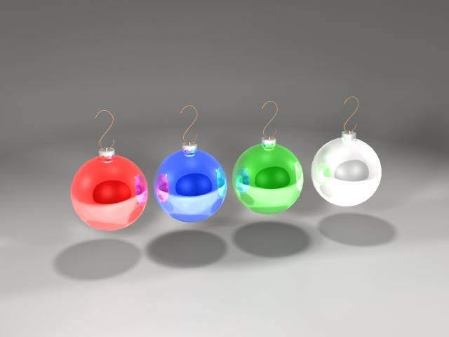 christmas tree ball 3d obj