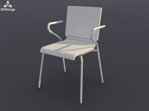 conference chair ole straight-sided 3d model