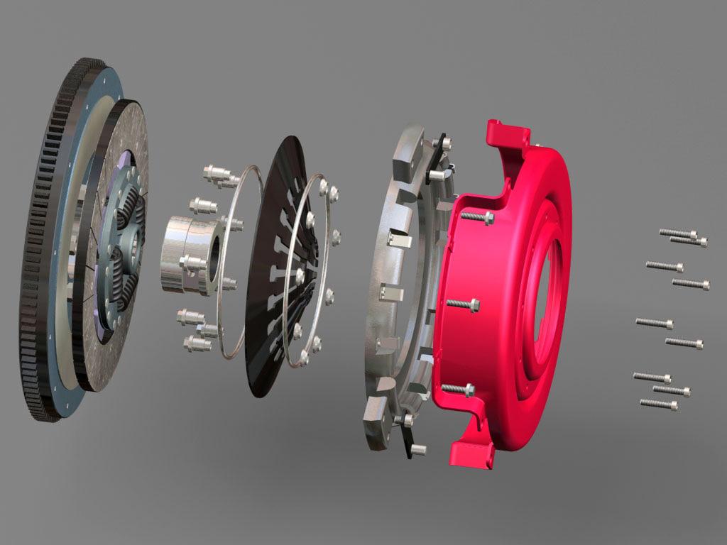 3d model transmission t5 dohc