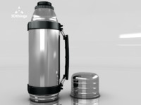 3d thermos model