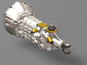 transmission manual t56 gm 3d model