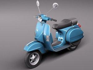vespa 150 scooter 2011 3d fbx
