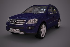 3d mercedes benz ml class model