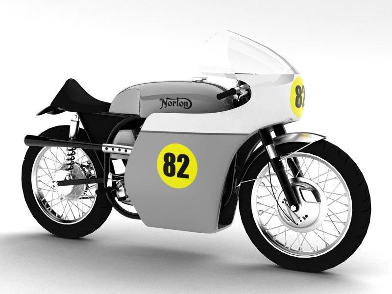 3d norton racer 1960 model