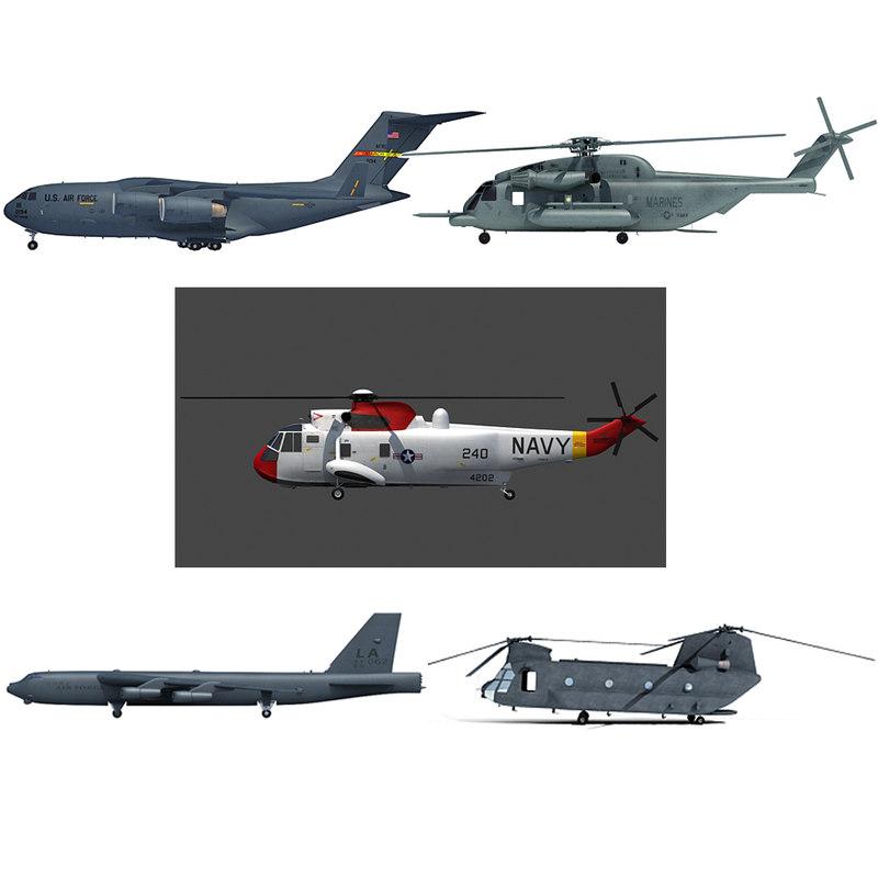 sikorsky b52 bomber helicopter 3d model