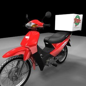 moto delivery 3d model