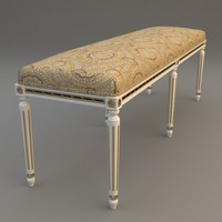 traditional style bench 3d model