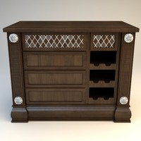 Kitchen Island Cabinet with Wine Rack