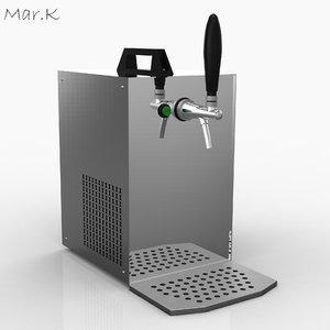 3d model portable beer cooler