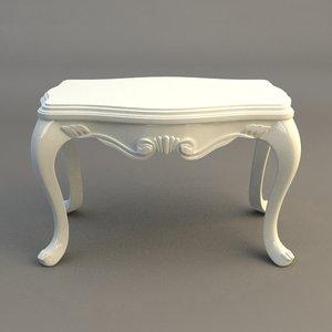 3d model table end