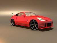 free nissan 350z 3d model