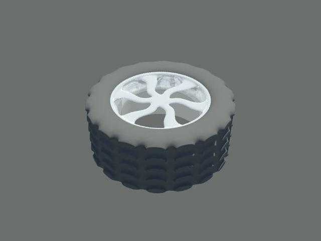 wheel off-road 3d model